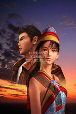 123162 Shenmue Ryo and Shenhua Sega DreamCast Decor LAMINATED POSTER UK