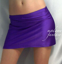 SEXY PURPLE SHINY SPANDEX HIPSTER MINI SKIRT XS-XXXL