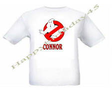 GHOSTBUSTERS PERSONALISED  KIDS WHITE T SHIRT AGE 2 -10