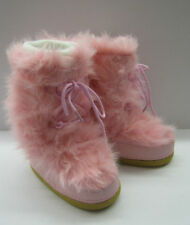 GIRLS H4045 PINK FAUX FUR SNOW/MOON BOOTS BRAND NEW!!
