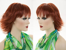 Mid Length Blonde Brown Red Straight Razor Cut Shag Wig