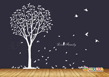 "Wall Decor Decal Sticker  vinyl tree 72"" SINGLE COLOR"