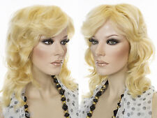Striking Medium Length Wavy Human Hair Monofilamen Wigs