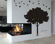 Wall Decor Decal Sticker vinyl large silhouette tree 5'