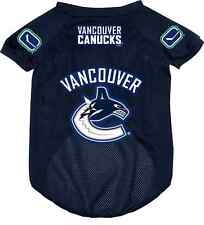 NEW VANCOUVER CANUCKS PET DOG MESH HOCKEY JERSEY ALL SIZES LICENSED