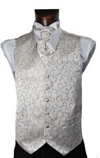 Boys Coffee Scroll Wedding Waistcoat Age 2 - 14