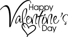 Happy Valentines Day Letters Sticker Vinyl Decal Word