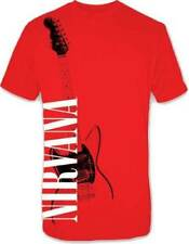 NIRVANA RED GUITAR MENS TEE SHIRT S-XL