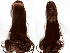 "19"" Long Reversable Straight Claw Clip Wavy Clip-in-Extencions Hair Pieces"