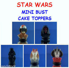 5 NEW LUCAS FILMS STAR WARS MINI BUST FIGURE CAKE TOPPER FAVORS YOU PICK!