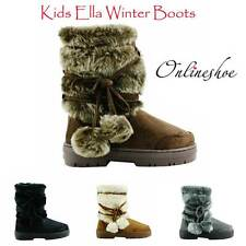 GIRLS ELLA ISA WARM WINTER SNUG FUR LINED NON SLIP SOLE KIDS SNOW BOOT SIZE10-2