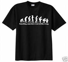 Something, Somewhere Went Terribly Wrong T-shirt Funny Evolution Geek Humor