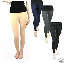 Thermo Leggins/Strumpfhos mit Fleece in Hautfarbe + 5 Farben Gr: S / M
