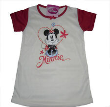 GIRLS NIGHTIE/PYJAMAS DISNEY MINNIE MOUSE AGE 2 3 4 5 6 7 & 8 YRS OLD BNWT