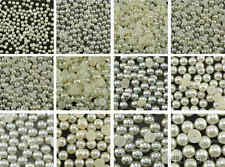 Selections of Ivory Half Pearl Beads Flat Back - 11 Sizes to choose from