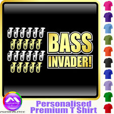 Euphonium Bass Invader - Personalised Music T Shirt 5yrs - 6XL by MusicaliTee