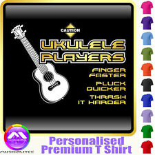 Ukulele Finger Faster - Personalised Music T Shirt 5yrs - 6XL by MusicaliTee