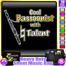 Bassoon Cool Player With Natural Talent - Sheet Music Custom Bag by MusicaliTee