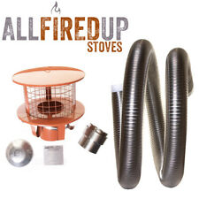 "Multifuel Flexible Flue Liner Installation Kit 7 For Wood Burning Stove 6"" To 6"""