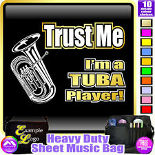Tuba Trust Me - Sheet Music & Accessories Personalised Bag by MusicaliTee