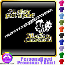 Flute Play For A Pint - Personalised Music T Shirt 5yrs-6XL MusicaliTee 2