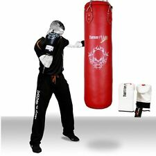 TurnerMAX Filled Boxing Punch Bag Set, Free Bag Gloves MMA Punching Muay Thai