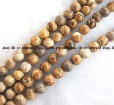 4mm 6mm 8mm 10mm 12mm 14 Natural yellow picture Jasper round gemsotne Beads 15''