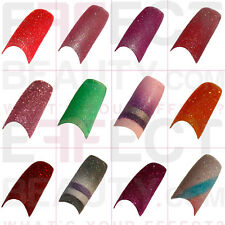 Glitter Acrylic French Nail Tips 50 or 100pcs  UK Seller Fast Delivery