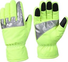 Safety Green High Visibility Insulated Waterproof Gloves With Reflective Tape