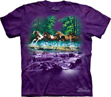 NEW SPRING CREEK RUN Native American Horses The Mountain T Shirt Adult Sizes