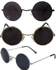 John Lennon Sunglasses Round Hippie Shades Retro Smoked Lenses Gold Black Silver