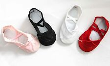 BALLET SHOES CANVAS CHILDREN'S SIZES SPLIT SOLE