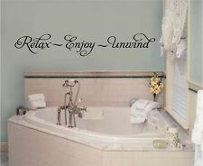 Relax Enjoy Unwind Vinyl Wall Decal Stickers Letters Bathroom Decor Quotes Words