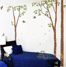 "Large Wall Decor Decal Sticker Mural vinyl DC0201 96""High 2 colors birch tree"