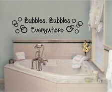 Bubbles Everywhere Vinyl Decal Sticker Wall Lettering Bathroom Decor Words Art