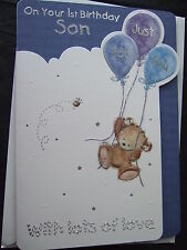 1ST Birthday SON  Quality Card with FABULOUS VERSES