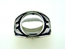 Mens Eagle Signet Ring Stainless Steel