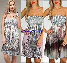 SeXY WoMeNS eMBeLLiSHeD SuBLiMaTioN TaTToo RHiNeSToNe SMoCKeD SuN DReSS S-XL $65