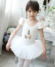 60% off sale Girl Dancing Shoes Leotard White Ballet Tutu Dress Sz 3 to 8 years