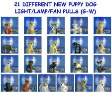 21 DIFFERENT NEW MINI PUPPY DOG FIGURES (G-W) LIGHT LAMP FAN PULLS YOU PICK ONE