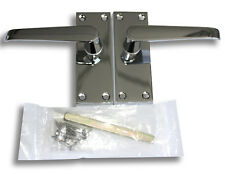 CONTRACT DOOR HANDLES-Victorian Straight Latch-Chrome-50, 30 & 5pairs available