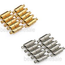 10 Sets Silver Plated/Gold Plated Oval Magnetic Clasps 19mm  Free Shipping