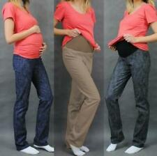 Maternity Pregnancy Cotton Trousers Skinny Denim Jeans Over Bump size 8 10 12 14