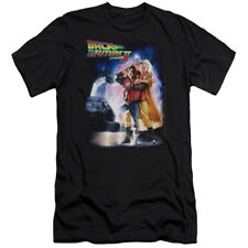 Back To The Future II Poster Officially Licensed Adult Fitted Shirt S-2XL