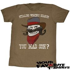 You Mad? Troll Face Meme You Mad Son Officially Licensed Adult Shirt S-2XL