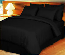 Sale 1000TC 100%Cotton Complete UK Bedding Collection Striped Black Choose Items