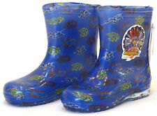 【Metalbay Rain Boots】Kids/Boys Cheap Shoes Waterproof New Color Blues Size 10-3