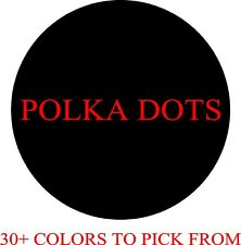 "5"" INCH POLKA DOTS VINYL DECAL HOME DECOR WALL CIRCLES STICKERS"