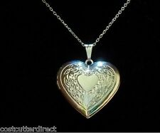 STERLING SILVER CHAIN WITH SILVER HEART LOCKET!!