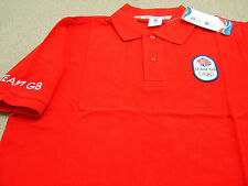 Official Olympics LONDON 2012 Team GB Men's Red Polo Shirt  (LSA14)
